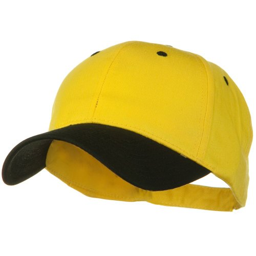 - Otto Caps Two Tone Cotton Twill Low Profile Strap Cap - Black Yellow