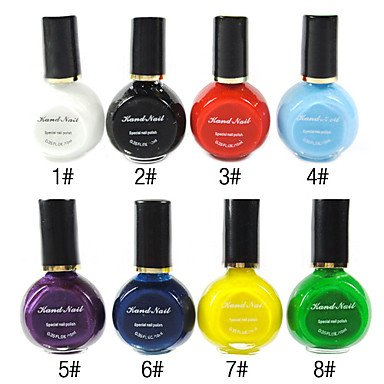 Xiong 1PCS Multi-color Top Coat Nail Polish for Stamping(10ml,Assorted Colors)