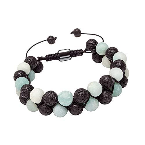 - Leefi Essential Oil Bracelet Adjustable Beads Bracelet Lava Rock Stone Bracelet Perfume Diffuser Bracelet,7