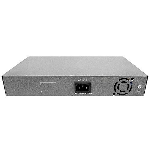 BV-Tech 18 Port PoE+ Switch (16 PoE+ Ports | 2 Gigabit Ethernet uplink) – 130W – 802.3at by BV-Tech (Image #2)
