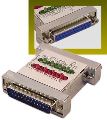 IEC EXC8021 RS232 DB25 9 Pin Mini Tracker Tester