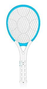 AOWOTO enchufe en eléctrica Batería Bug Zapper mosquito insectos matamoscas Raqueta con recargable