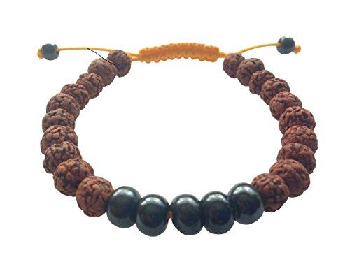 Handmade Dark Yak Bone Wrist Mala Bracelet for Meditation (Rudraksha)