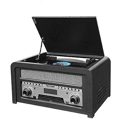 Paxcess - Tocadiscos estéreo Retro: Amazon.es: Electrónica