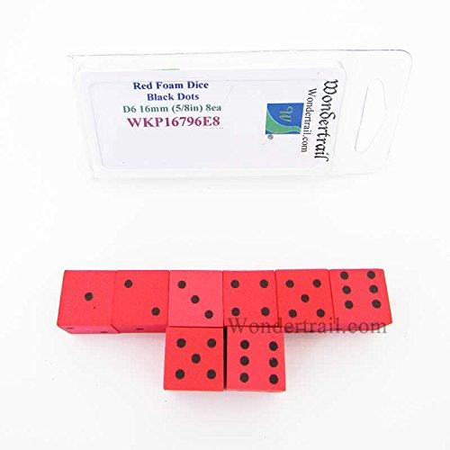 特別オファー Red Foam Dice Wondertrail with Black Dots D6 D6 Foam 16mm (5/8in) Pack of 8 Wondertrail B073YSJK7V, シーオーシー404:2a93cf55 --- martinemoeykens.com