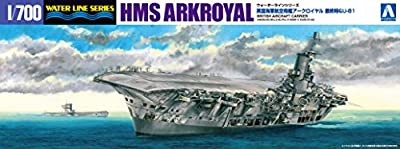 1/700 Water Line Royal Navy aircraft carrier Ark Royal last time & amp; U81 by Aoshima Bunka Kyozai