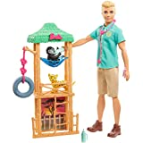 Barbie Ken Wildlife Vet Playset with Doll, Vet Care Station and Accessories