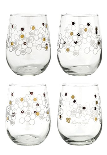 Mignon Faget HIVE Stemless Wine Glasses, Set of 4 Review