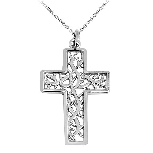 White Gold Large Celtic Cross - 7