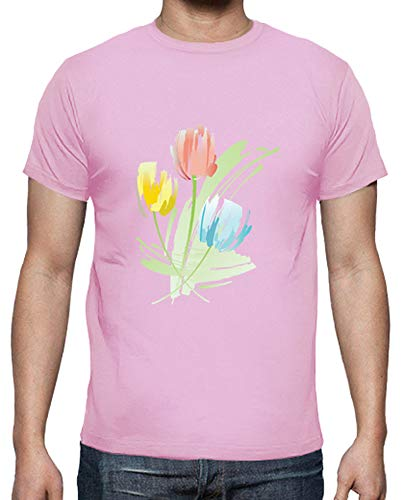 shirt Rosa T Uomo Tulipani Tostadora 5CHqW