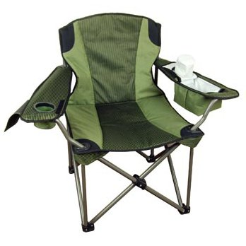 Big U0026 Tall Folding Camp Chair (Super Strong, Extra Wide, Padded, Drink