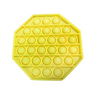 1PC Push pop Bubble Fidget Sensory Toy Autism Special Needs Stress Reliever (Yellow)