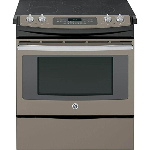 GE JS750EFES 30″ Slate Electric Slide-In Smoothtop Range – Convection