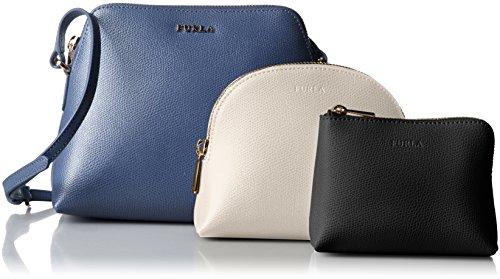 Bolso con Bandolera Furla Mujer Piel Azul y Oro 830209EEK08AREBLU Azul 8x15x19 cm