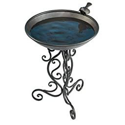 1 - Ornate Metal Bird Bath