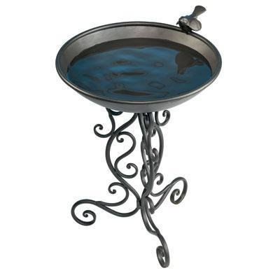 1 - Ornate Metal Bird Bath by Gardman