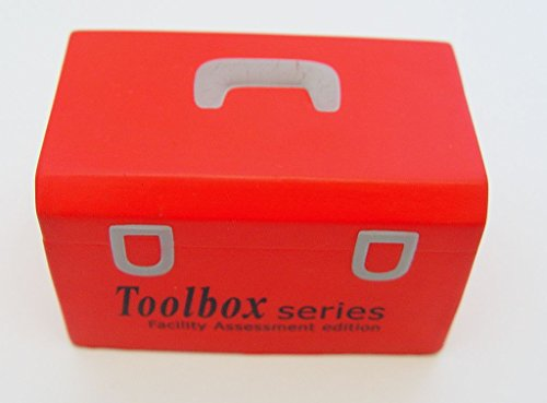 Squeezable Red Toolbox Shaped Advertising Promotional Stress Ball -