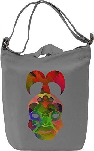 Aztec Mask Borsa Giornaliera Canvas Canvas Day Bag  100% Premium Cotton Canvas  DTG Printing 