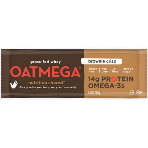 Oatmega Brownie Crisp Protein Bar, 1.8 Ounce -- 72 per case.
