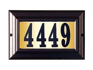 Qualarc LTL-1301AC-PN Edgewood Large Lighted Address