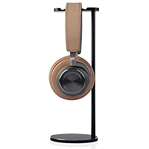 Aluminum Gaming DJ Headphone Rack,Super Steady Jokitech Headsets Stand, Suitable for Grado, Beats, Sennheiser, Sony, Audio-Technica, Bose, Shure, AKG, Logitech, Razer Gaming Headphones and More -Black