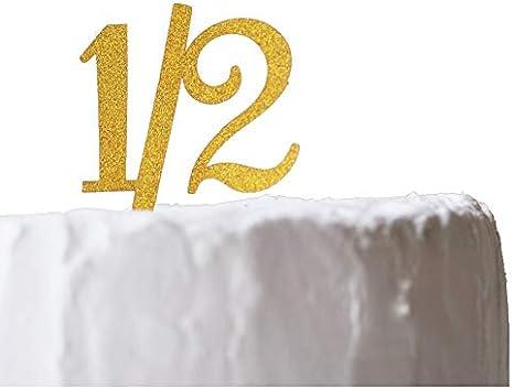Amazon Co Jp ハーフバースデー 1 2 ケーキトッパー 紙製 6ヵ月 半年 Half Birthday バースデー お誕生日 記念日 イベント パーティー 写真撮影 Limpomme オリジナルパッケージ ホーム キッチン
