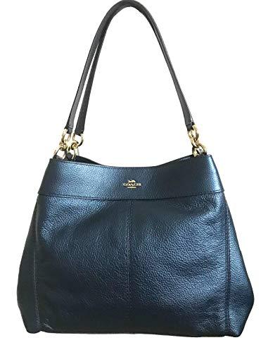 Coach Lexy Pebble Leather Shoulder Bag (Metallic ()