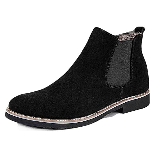 e5c92fca4 YING LAN Mens Flat Suede Slip On Ankle Boots Smart Casual Desert Chelsea  Shoes Black With Cotton - Buy Online in Oman. | Apparel Products in Oman -  See ...