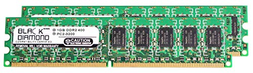 1GB RAM Memory for Dell PowerEdge 800 240pin PC2-3200 DDR2 ECC UDIMM 400MHz Black Diamond Memory Module Upgrade ()