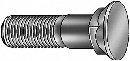 2 Alloy Steel Plow Bolt with Plain Finish; PK110
