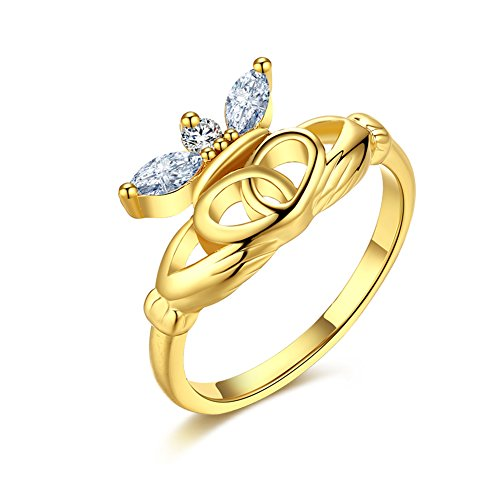 Women Charms Jewelry Gold Plated Romantic Circular Zircon St