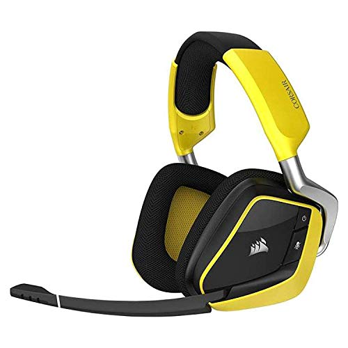 Corsair VOID PRO RGB Wireless SE Premium Gaming Headset (Yellow)【Japan Domestic genuine products】