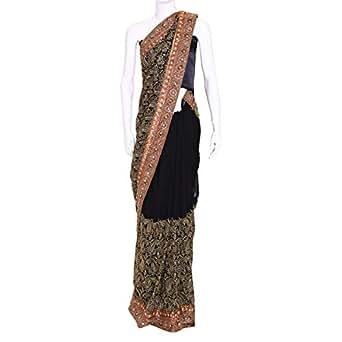 Kalaniketan Black Casual Saree For Women