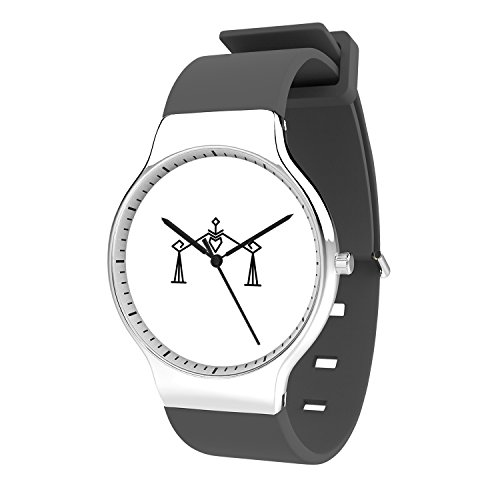 TobyFord Girls Watch, Kids Watch Libra Watch Gray Silicone Band Watch for Women Minimalist Fashion Cute Watches for Couples Watches Gift for Him and Her