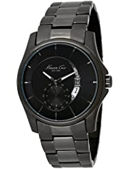 Kenneth Cole New York Mens KC3902 Iconic Moonface Gunmetal Link Watch