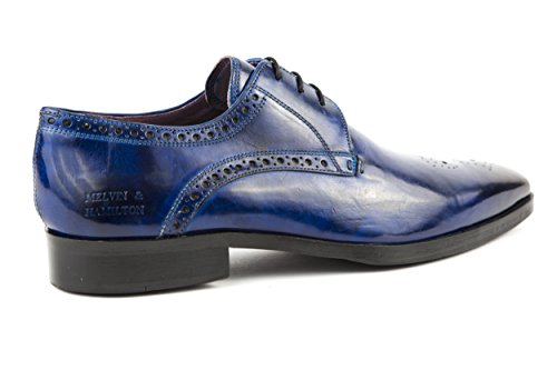 MELVIN & HAMILTON Herren Lance 4 Halbschuhe Business Schnürer Blau Gr. 42
