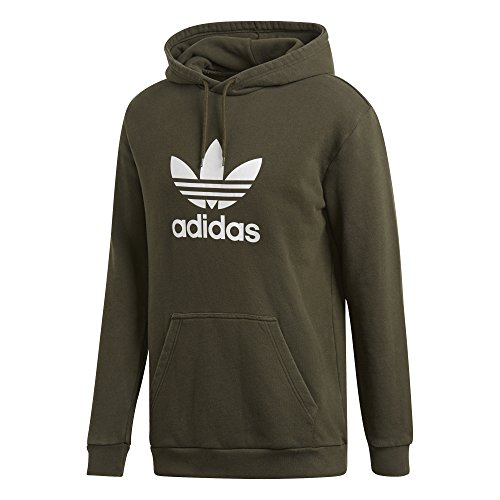(adidas Originals Men's Trefoil Hoodie, Night Cargo, L)