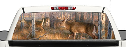 Deer Hunting Rear Window Graphic Decal Perforated Vinyl Wrap b2 (Rear Window Hunting Decal)
