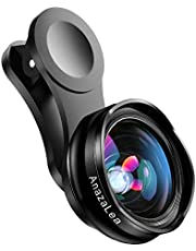 Anazalea for iPhone and Android Lens, Wide Angle & Macro Lens (Screwed Together), Cell Phone Camera Lens Kit for iPhone X XR XS Max 8 7 6S Plus Samsung S9 S8 and Android Phone (Black and White)