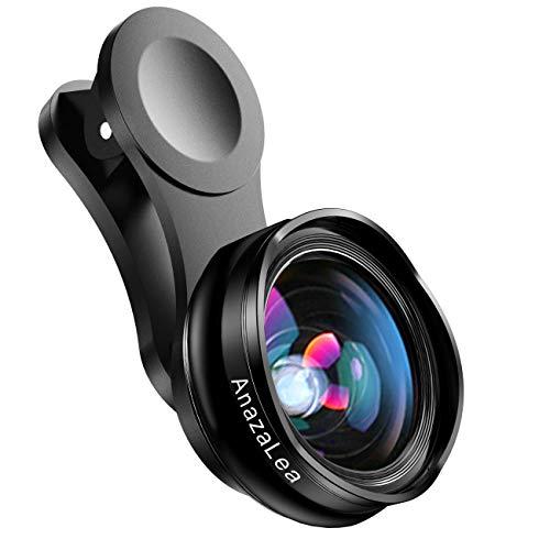 Anazalea para lente de iPhone y Android, lente gran angular y macro