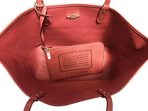 PVC F36609 Light Signature Reversible Brown Coach City Rouge Gold Tote wExdFABFCq