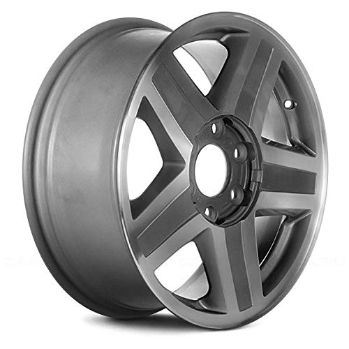 (Replacement 5 Spokes Machined with Silver Pockets Factory Alloy Wheel Fits Chevy Trailblazer)