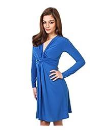KRISP Womens Soft Stretchy Long Sleeve V Neck Summer Dress