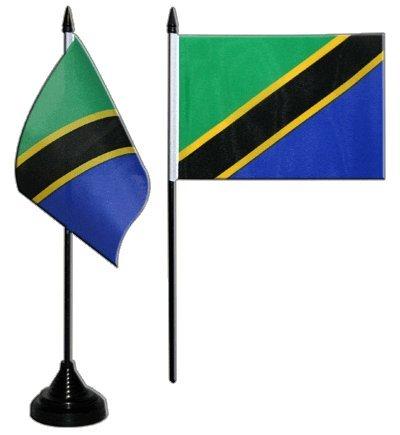 Flaggenfritze/® gratis Aufkleber Tischflagge Tischfahne Tansania