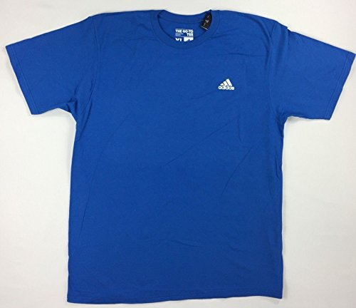 adidas Men's Training Ultimate Tagless 100% Cotton Go-To Short Sleeve Crew Tee (Large, Bright Royal) (Spring Adidas Womens)