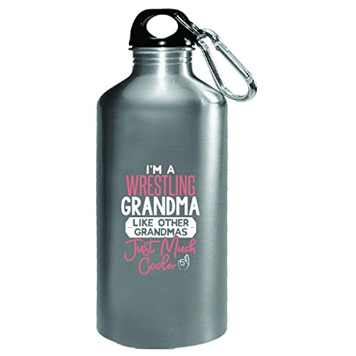 Gift Wrestling Grandma Much Cooler Mothers Day Present - Water Bottle by My Family Tee