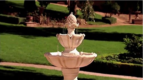 Serena Garden Co. Salerno Outdoor 3-Tier Cordless Water Fountain (White Stone) by Serena Garden Co.
