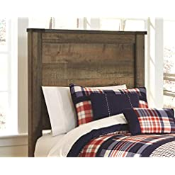 Bedroom Signature Design by Ashley Trinell Headboards, Brown farmhouse headboards