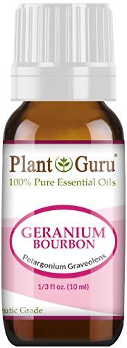 (Geranium Bourbon Essential Oil 10 ml 100% Pure Undiluted Therapeutic Grade.)