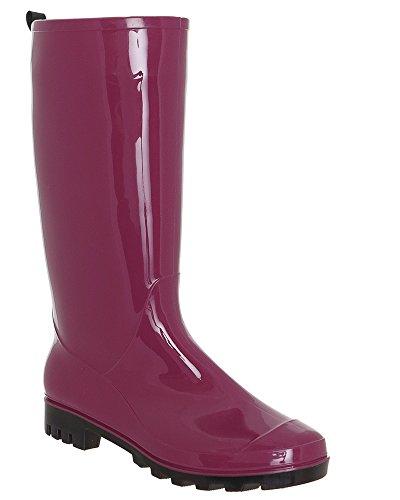 Capelli New York Ladies Lucido Solido Opaco Gelatina Pioggia Boot Vino